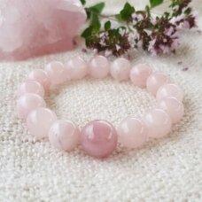 Rožinio kvarco apyrankė